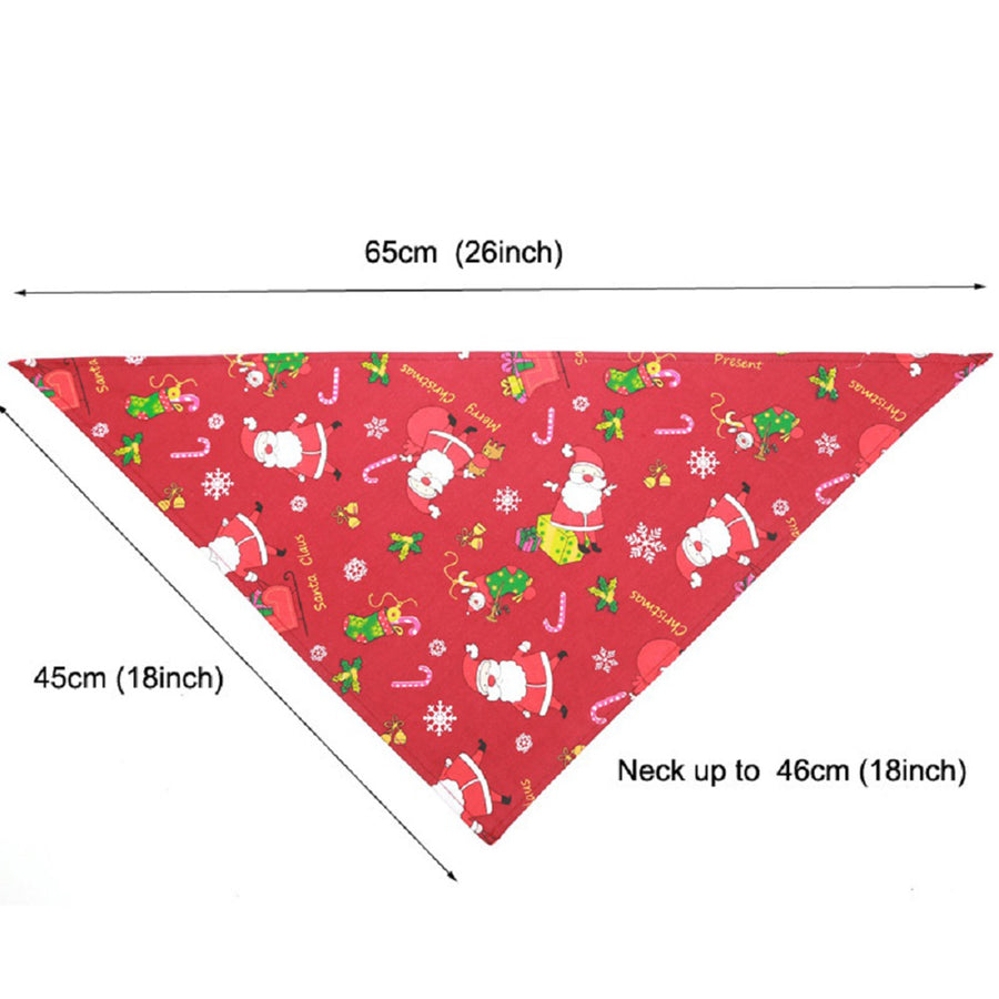 Size chart of Dog Bandana Christmas Santa Claus