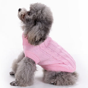 Dog Turtleneck Sweater, Knitwear Soft Thickening Warm Pup Dogs Winter Coat