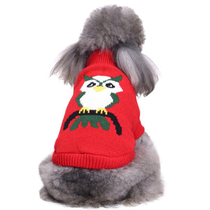 Pet Sweater Warm Winter Christmas Halloween Fun Cartoon Pet Coat
