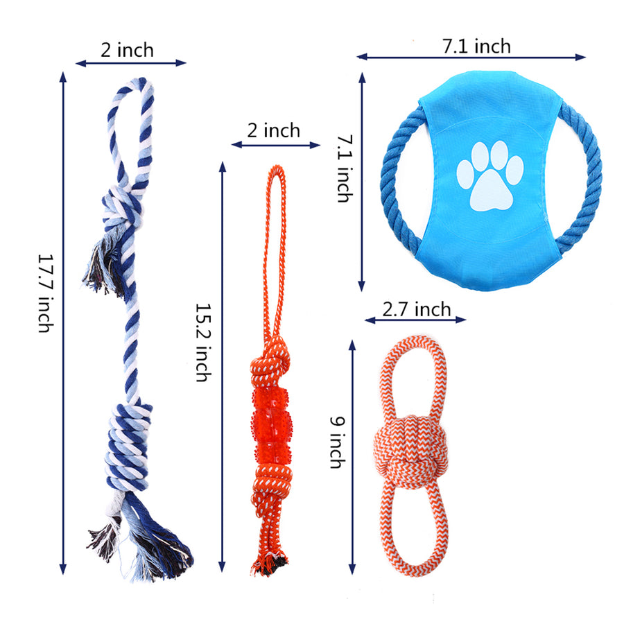 dog chew rope toy QBLEEV