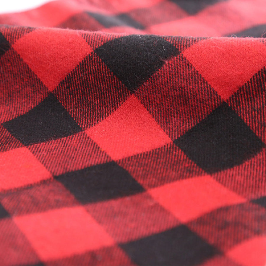 plaid of Qbleev dog bandna