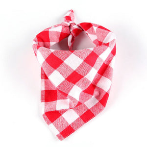 Qbleev dog bandana in red and white color