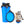 dog water bottle with collapsible bowl blue