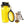 dog water bottle with collapsible bowl yellow