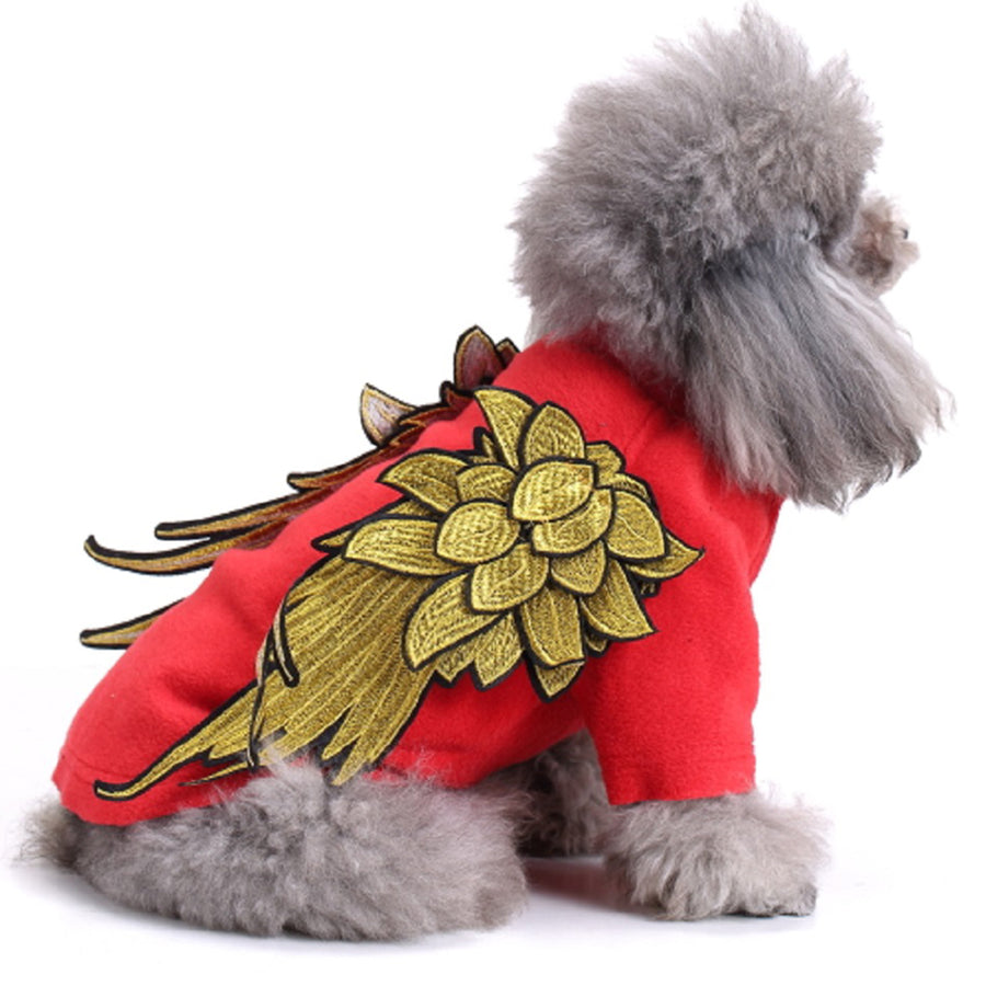 Puppy Dog Cotton Vest Coat Cute Pet Angel Wing Costume