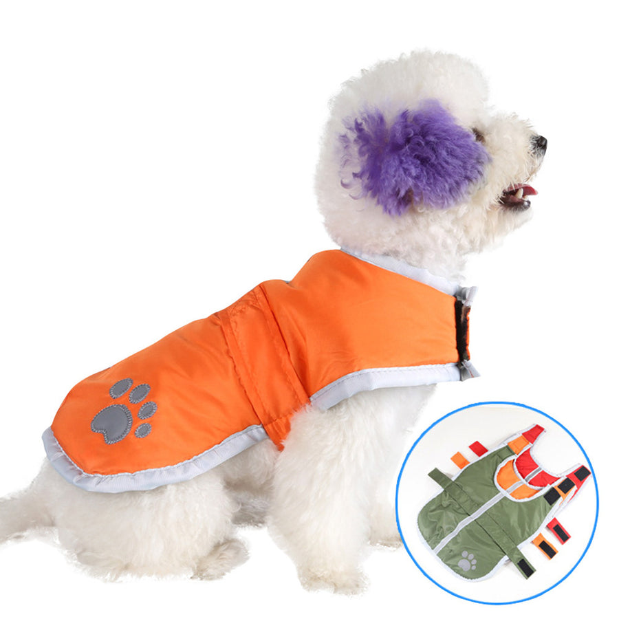 Pet Dog Jacket ,Winter Puppy Dog Coat Waterproof ,Reversible Pet Outfit