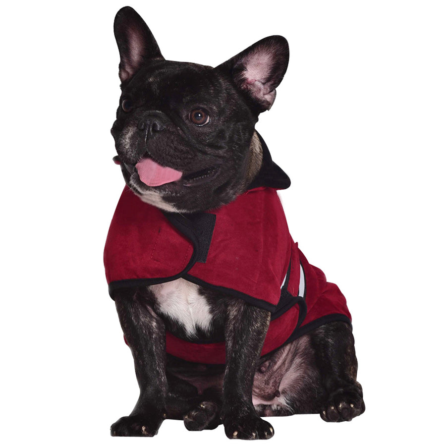 Pet Dog Windproof Jacket Warm Dog Costume Vest Winter Outdoor Puppy Outfit With Reflective Stripes