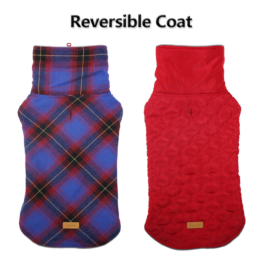 QBLEEV New Dog Reversible Coat Jackets Winter Clothes Vest