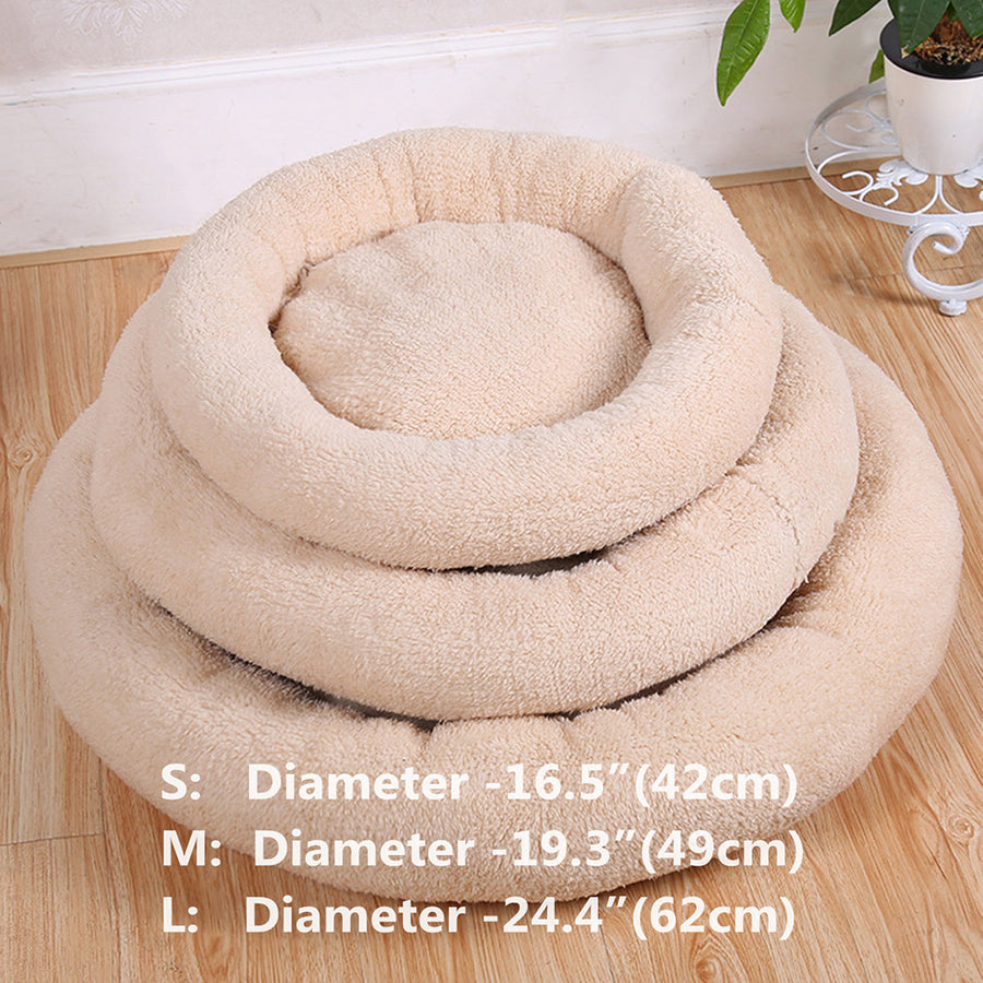 sizes of round dog bed QBLLEV