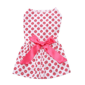 red flower Floral Dog Dress qbleev