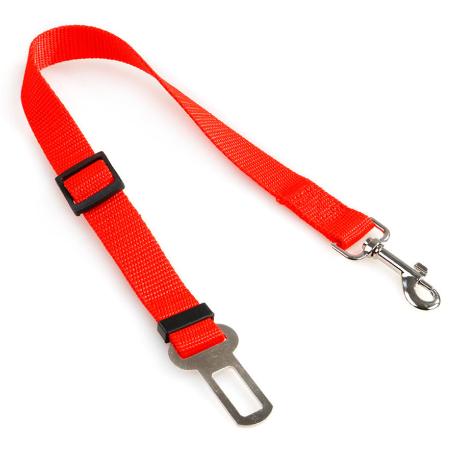 Qbleev dog seat belt rope retractable red