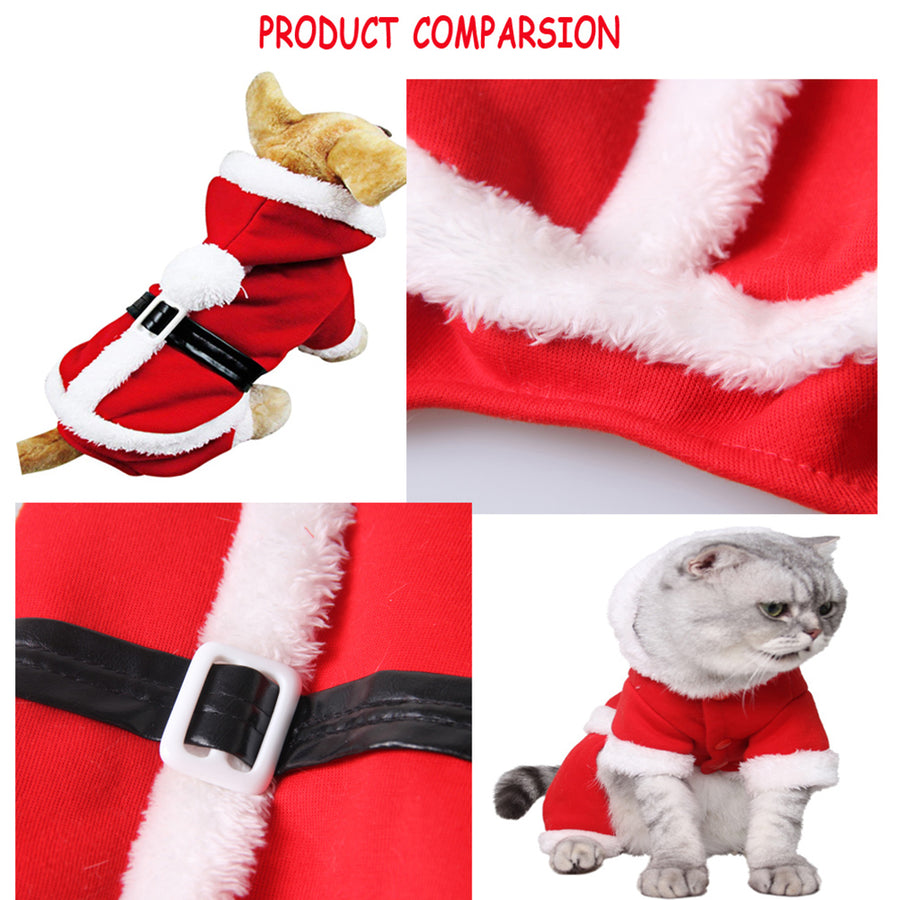 Pet Christmas Costume, Santa Suit For Dog/Cat