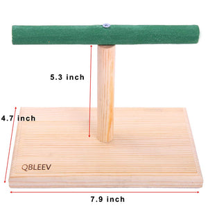 QBLEEV Tabletop T Training Bird Perch Stand