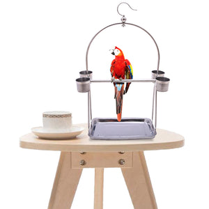 BIRD STAND WITH 4 CUPS