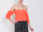 Sleeve Top Coral
