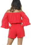 Pearl Red Romper