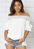 WHITE CASUAL TOP