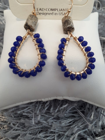 Earing Royal Blue