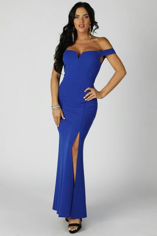 Long Dress Blue Royal