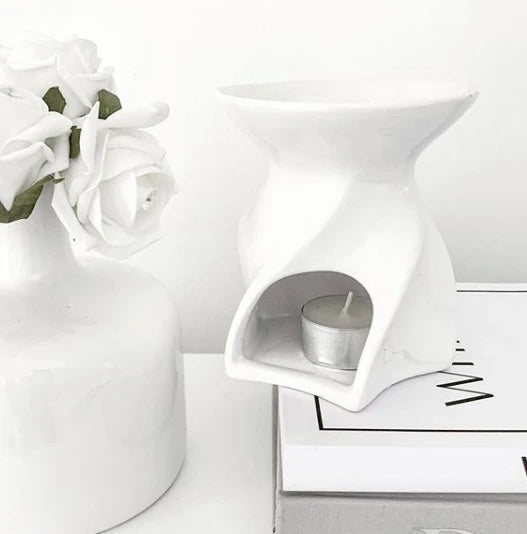 Lyon White Ceramic Wax Warmer
