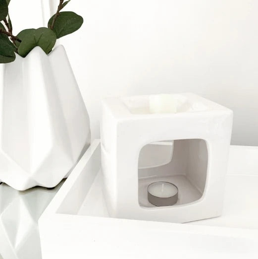 Talin White Ceramic Wax Warmer