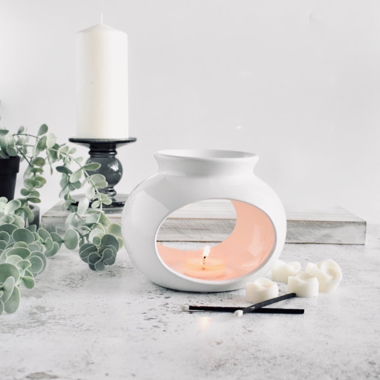 Sofia White Ceramic Wax Warmer
