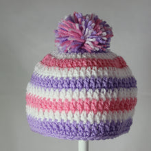 Load image into Gallery viewer, Newborn Striped PomPom