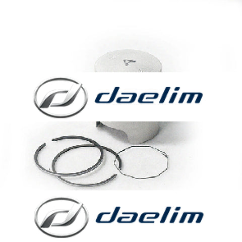 Genuine Engine Piston With Rings Set Daelim Sj50 Sj50R