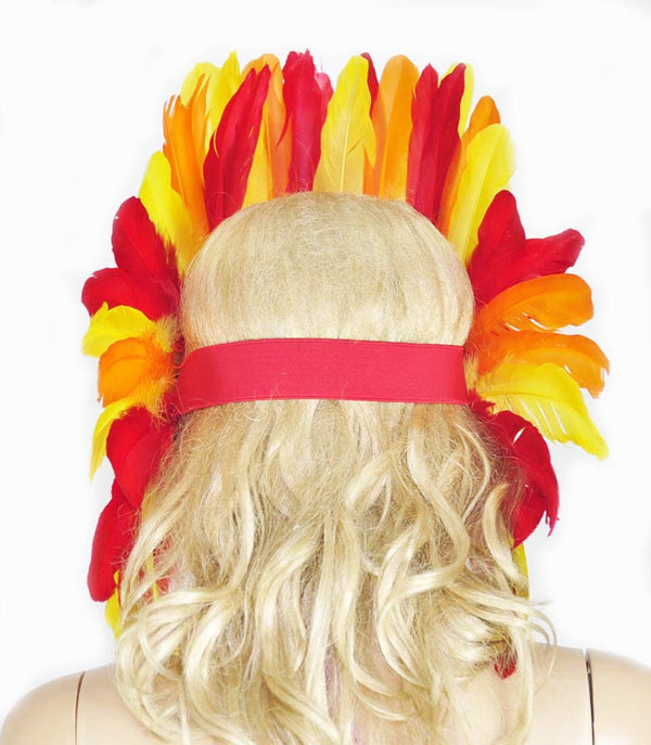 Fire feather sequins crown las vegas dancer showgirl headgear headdress - hotfans