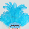 Turquoise Ostrich Feather Open Face Headdress & backpiece Set - hotfans