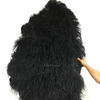 Burlesque 4 Layers black Ostrich Feather Fan Opened 67'' with Travel leather Bag - hotfans