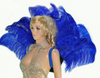 Royal blue Open Majestic Style Ostrich Feather backpiece