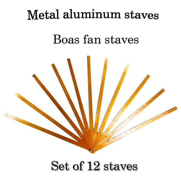 Metal aluminum staves Set of 12 boa waterfall fan staves & Hardware Assembly Kit - hotfans