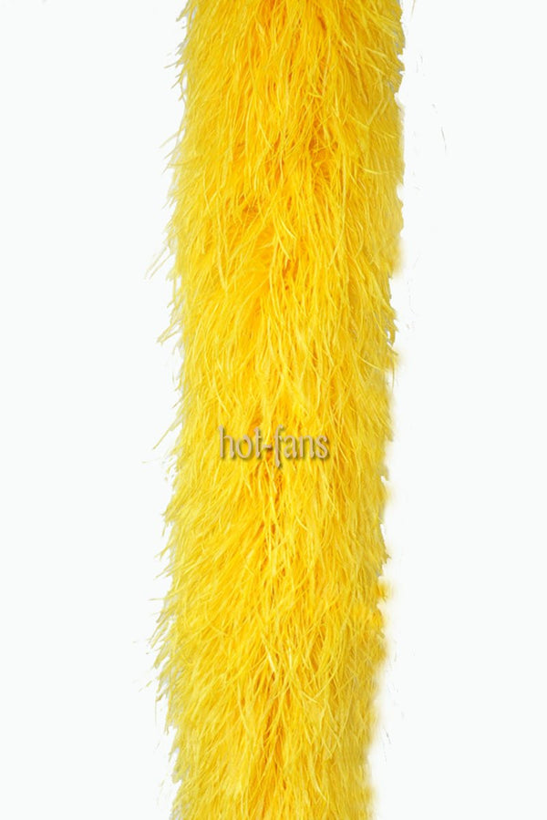 20 ply gold yellow Luxury Ostrich Feather Boa 71