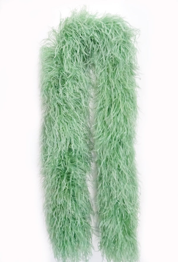 20-lags Jade Luxury Ostrich Feather Boa 71