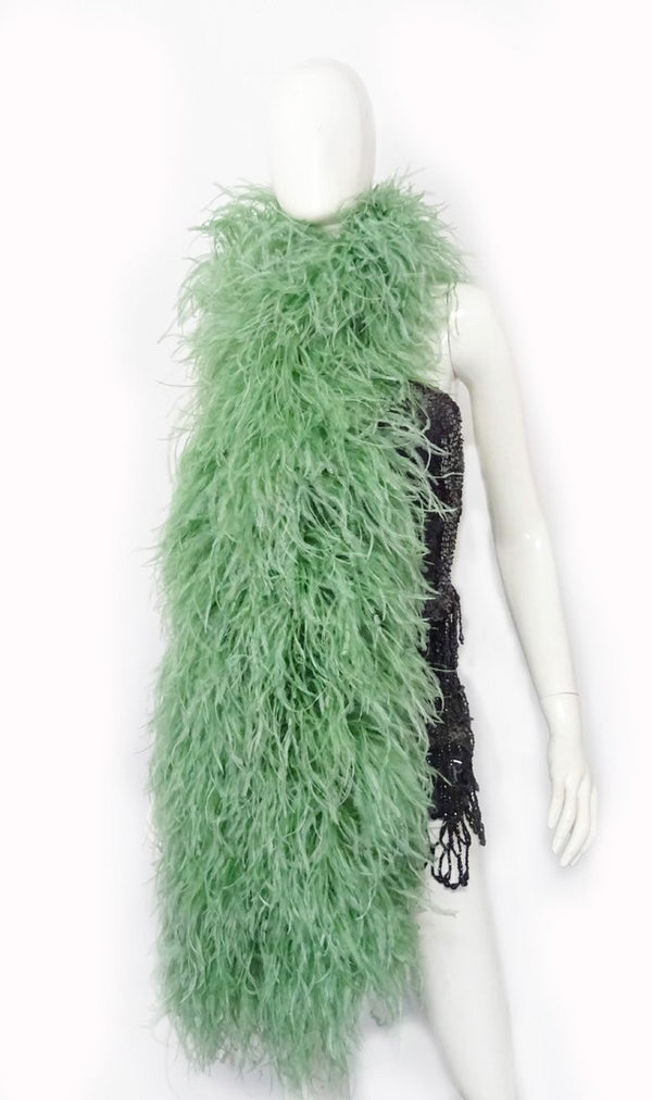 """20-lags Jade Luxury Ostrich Feather Boa 71 """"lang (180 cm) 