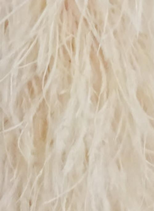 20 ply Khaki Luxury Ostrich Feather Boa 71