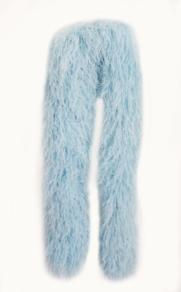 20 ply light blue Luxury Ostrich Feather Boa 71