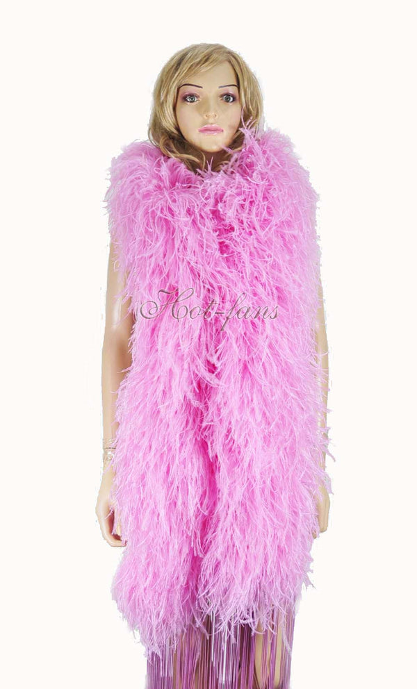 20 ply pink Luxury Ostrich Feather Boa 71