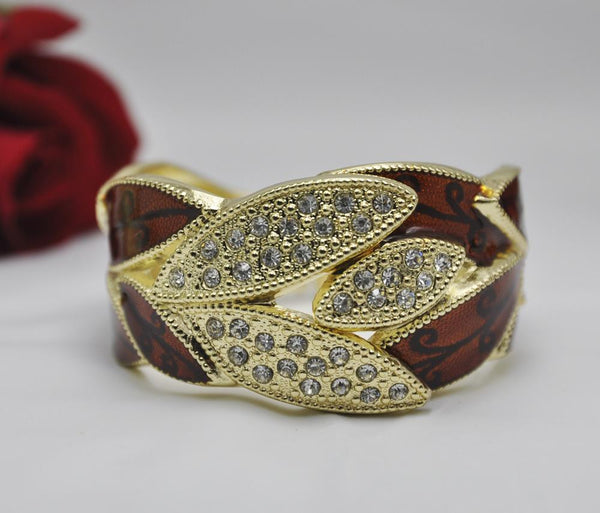 Expandable Alloy Cuff Bangle Bracelet R270c - Hotfans