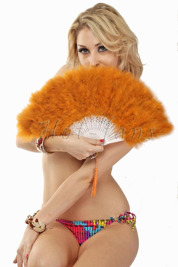 topaz petite Marabou feather fan - hotfans