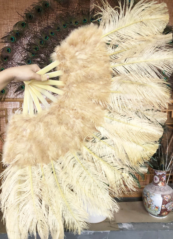 hvede Marabou Ostrich Feather fan 21