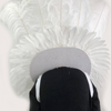 white sequins ostrich feather shoulder Backpack - hotfans