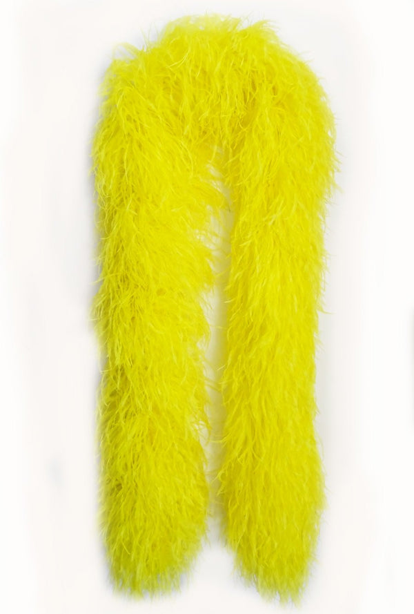 20 ply yellow Luxury Ostrich Feather Boa 71