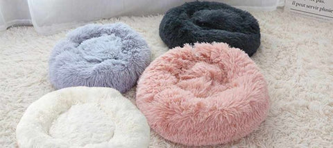 Colorful Relaxing Pet Bed from Faux Fur