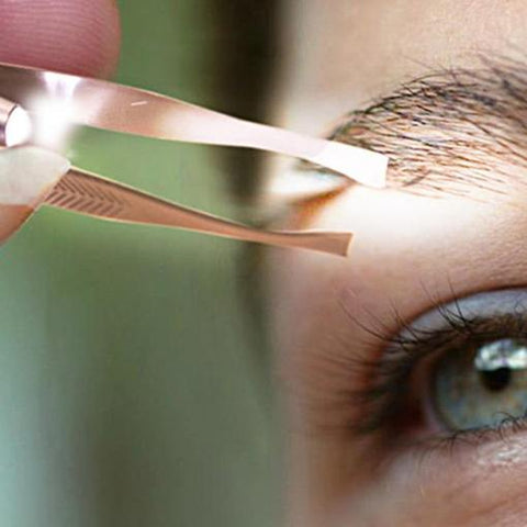 LED Eyebrow Hair Removal Tweezer - Best Electric Shaver for Women's Facial Hair