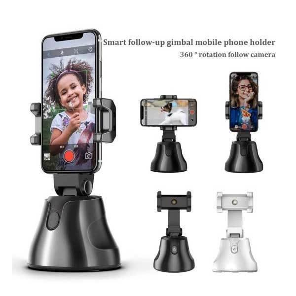 Face Tracking Phone Holder & 360° Auto Rotation Camera