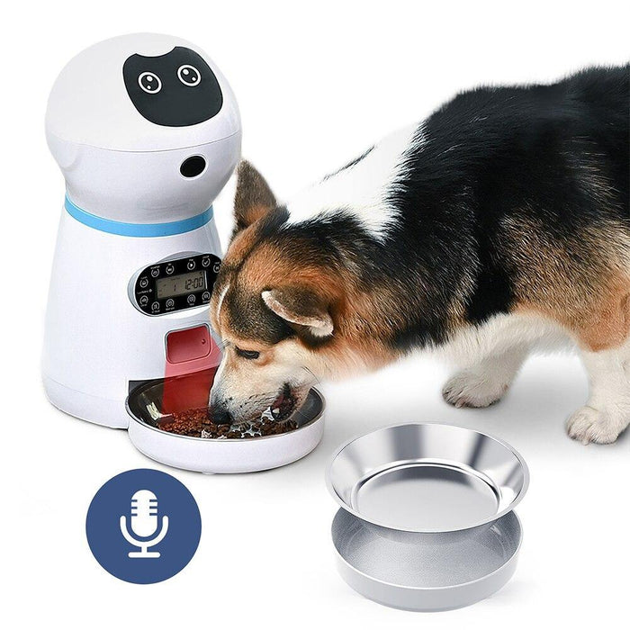 Automatic Robot Pet Feeder with Voice Record
