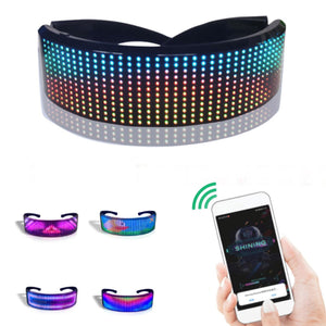 LED Light Party Glasses with Customizable Animations