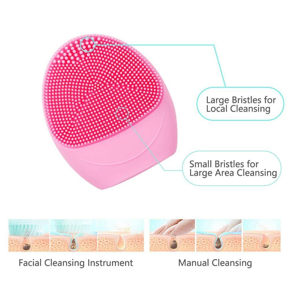 Rechargeable Silicone Facial Cleaner